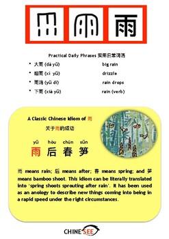 Chinesee Flashcard_雨_Rain