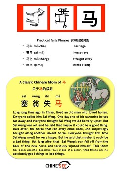 Chinesee Flashcard_马_Horse