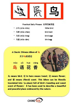 Chinesee Flashcard_鸟_Bird