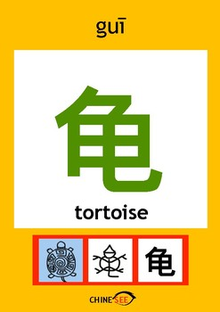 Chinesee Flashcard_鹿_Tortoise