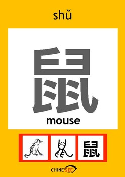 Chinesee Flashcard_鼠_Rat/Mouse