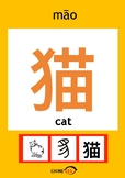 Chinesee Flashcard_猫_Cat