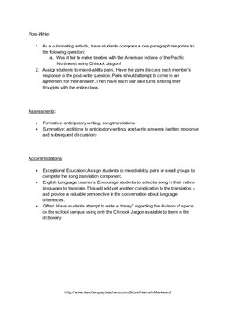 Chinook Jargon & Treaty Making