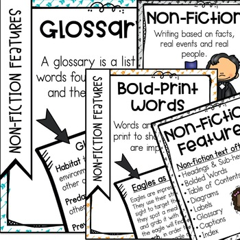 Chinstrap Penguin Activities Nonfiction Features Glossary Bold Words