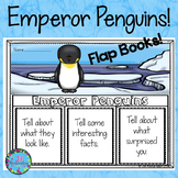 Winter Activities for First Grade Emperor Penguins Writing Flap Books!