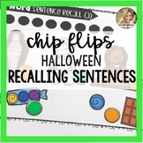 Chip Flips Halloween Speech Therapy | Recalling Sentences