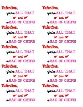 Chip Valentine Labels