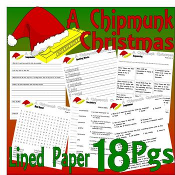 Chipmunks Christmas Reading / Movie Comprehension Activity Pack 18 ...