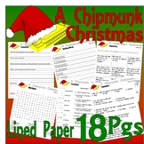 Alvin & the Chipmunks Christmas Comprehension Activity Pack 18 pages