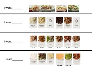 Chipotle Visual for Ordering