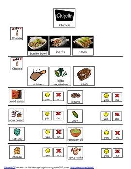 Chipotle adapted menu