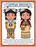 Chippewa Indians Coloring Page Craft and Poster, Native Am