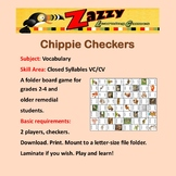 Chippie Checkers Folder Game Vocabulary Closed Syllables VC/CV