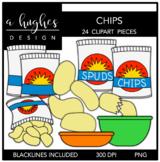 Chips Clipart {A Hughes Design}