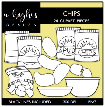 Chips Clipart {A Hughes Design}