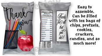 Chips/Treat Bag for Educators 3
