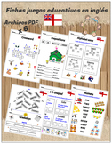 Worksheets and educational games in English