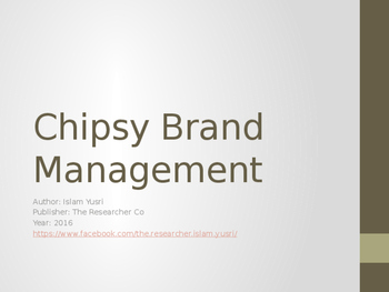 Chipsy Brand Management Presentation