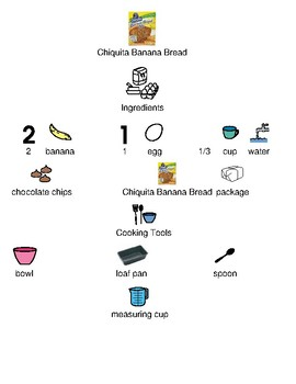 Chiquita Banana Bread - recipe picture supported text visual supports