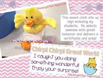 Chirp! Chirp! Great Work! Student Reward Freebie