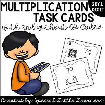 Multiplication Task Cards (2 by 1 Digit)