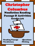 Christopher Columbus Reading Passage and Activities