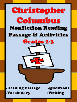 Chistopher Columbus Reading  Passage and Activities  Gr2-3