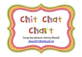 Chit Chat Chart, Group Time Behavior Chart