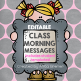 Morning Messages EDITABLE