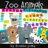 ZOO animals Chit Chat Messages, Close Reading Passages & More!