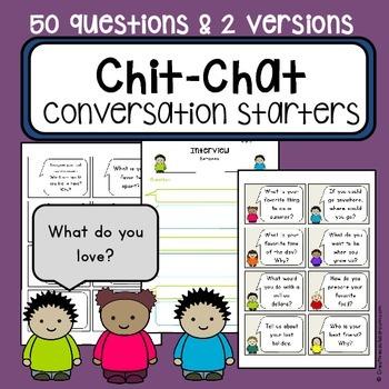 Conversation starter topic task cards -  communication cards - SaLT, ESL/EFL