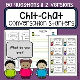 Conversation starter topic task cards -  communication car