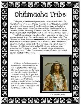 Chitimacha Native American Tribe of Louisiana Informational Article