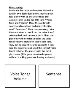 Chitter Chatter Voice Tone and Volume Game