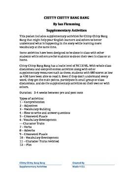 Chitty Chitty Bang Bang supplementary activities