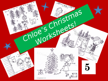 Chloe's Christmas Coloring Book Pages