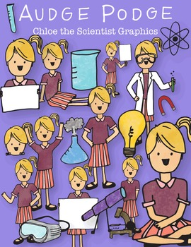 Chloe the Scientist Graphic Pack