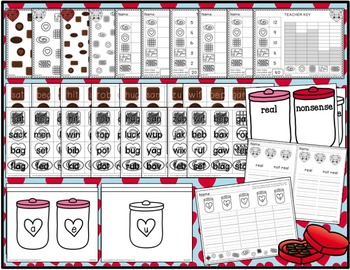 Chocoholic Math and Literacy Centers for Valentine's Day