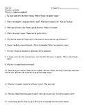Chocolat Movie Viewing Questions
