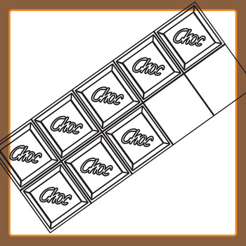 Chocolate 10 Frames Clip Art for Commercial Use