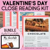 Chocolate Unit   Valentine's Day Activities   Distance Lea