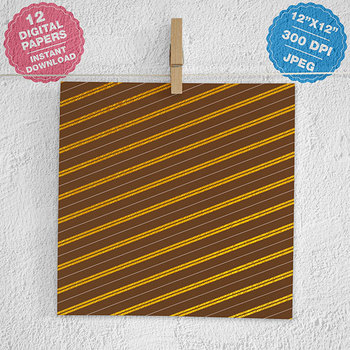 Chocolate And Gold Papers {Pretty Graphics}