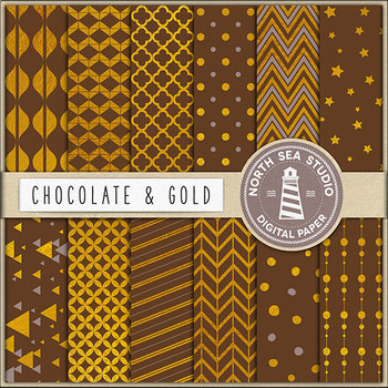 Chocolate And Gold Papers