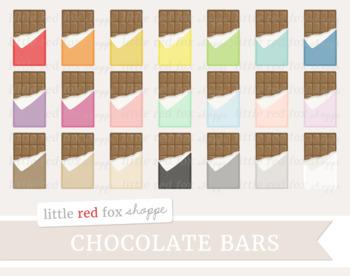 Chocolate Bar Clipart; Easter, Candy, Halloween, Valentines, Treat, Dessert