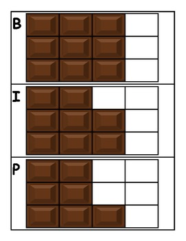 Chocolate Bar Fraction Match Up!