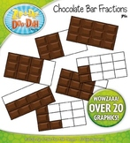Chocolate Bar Fractions Clipart {Zip-A-Dee-Doo-Dah Designs}