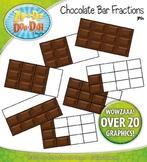 Chocolate Bar Fractions Clipart {Zip-A-Dee-Doo-Dah Designs}