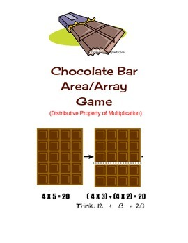 Chocolate Bar Game - Distributive Property of Multiplication