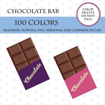 Chocolate Bar Clipart Chocolate Stickers Sweetness Clipart Baking Planner