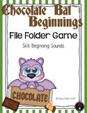 Chocolate Bat Beginning Sounds Halloween File Folder Game Kindergarten
